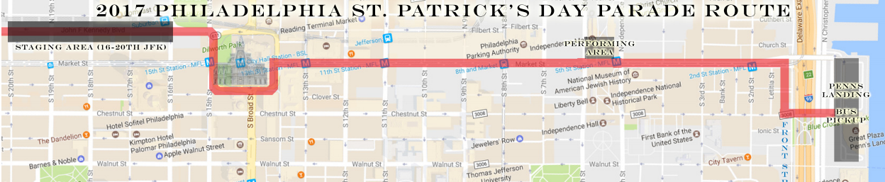 Philadelphia St. Patrick's Day Parade Route 2017